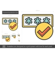 Password protection line icon vector image vector image