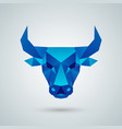 polygonal bull head vector image