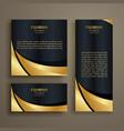 premium shiny golden wave banner design vector image vector image