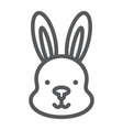 rabbit line icon hare and animal bunny sign vector image