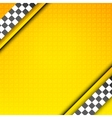 Racing template taxi backdrop vector image vector image