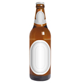 Realistic beer bottle with blank labels