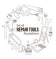 repair tool vector image vector image