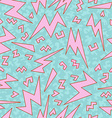retro 80s lightning bolts pattern vector image vector image