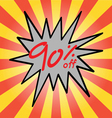 Sale 90 text vector image
