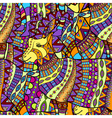seamless decorative goat background vector image vector image