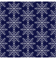 seamless pattern of snowflakes winter background vector image vector image