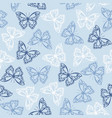 seamless pattern with colored butterflies vector image vector image