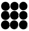 Set of grunge circles grunge round shapes