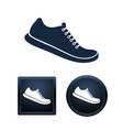 shoe icon set isolated vector image