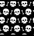 skulls and bones seamless pattern vector image vector image