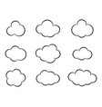 sky clouds silhouette cloud icon set vector image vector image
