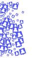 social media background vector image vector image