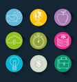 success business set icons vector image