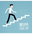 Success in business Businessman climbs up stairs vector image