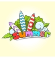 Summer surfing vector image vector image
