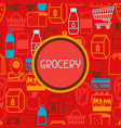 supermarket background with food icons vector image vector image