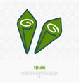 temaki thin line icon modern vector image vector image
