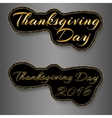 Thanksgiving Day text sticker vector image