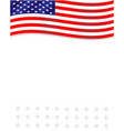united states flag frame background cover vector image vector image