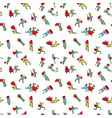 valentine day people background seamless pattern vector image vector image