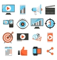 Video marketing and digital social media flat vector image vector image