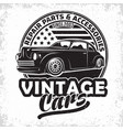 vintage hot rod emblem design vector image