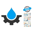 Water Service Icon With 2017 Year Bonus Symbols vector image vector image