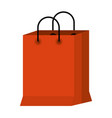 white background with colorful shopping bag vector image vector image