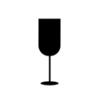 Wine glass icon Silhouette vector image