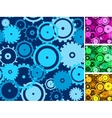 Gears seamless backgrounds set vector image