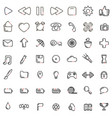 web common icons black and white pack vector image