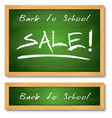 Back to School Wooden Green Chalkboard vector image