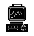 electrocardiogram - heart analyse icon vector image