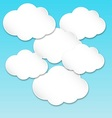 Paper white clouds vector image
