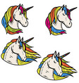 set of magic unicorn isolated on vector image