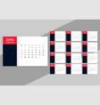 2019 desk calendar in minimal style vector image vector image