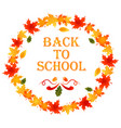 back to school autumn background vector image