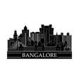 bangalore cityscape line art design vector image vector image