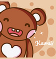 bear cute kawaii cartoon vector image