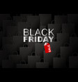 black friday sale on shopping bag background vector image vector image