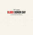 blood donor day background design collection vector image