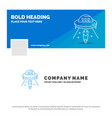 blue business logo template for alien space ufo vector image