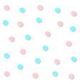 Blue Pink Circle Abstract White Background vector image vector image