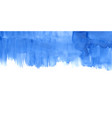 blue watercolor stain banner design element vector image vector image