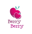 bright b letter berry logo vector image vector image