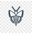 butterfly with wings concept linear icon isolated vector image