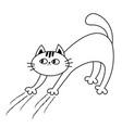 cat arch back kitten scratching scratch track vector image
