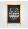 chalk drawings Retro typography vector image vector image