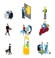 Characters Professions Isometric Set vector image vector image
